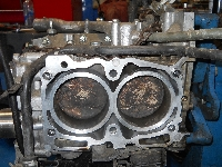 Removed cylinder head