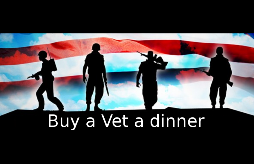 Buy a Veteran dinner, and we'll credit the cost to your next Subaru repair.